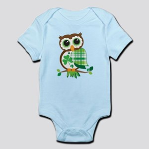 St Patrick's Day Owl Body Suit