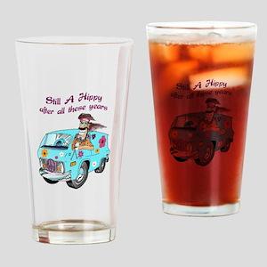 STILL A HIPPY Drinking Glass