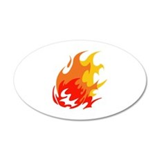 BALL OF FLAMES Wall Decal
