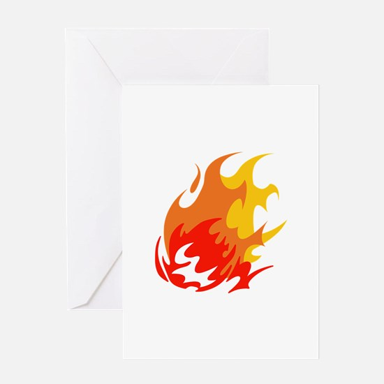 BALL OF FLAMES Greeting Cards