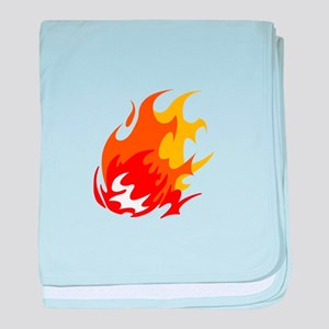 BALL OF FLAMES baby blanket