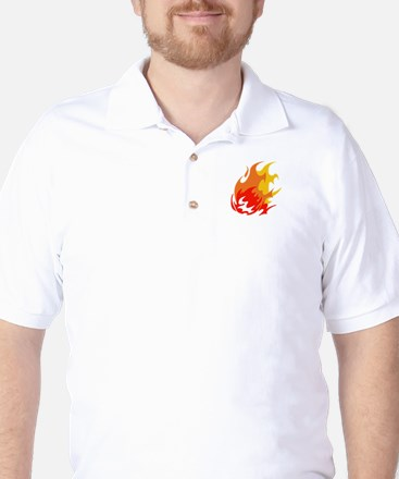 BALL OF FLAMES Golf Shirt