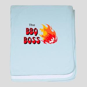 THE BBQ BOSS baby blanket