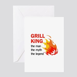 GRILL KING LEGEND Greeting Cards