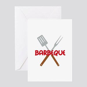 BARBEQUE UTENSILS Greeting Cards
