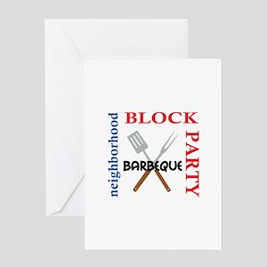 NEIGHBORHOOD BLOCK PARTY Greeting Cards
