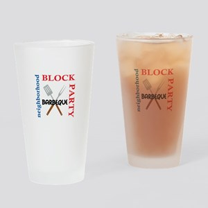 NEIGHBORHOOD BLOCK PARTY Drinking Glass