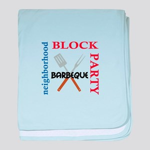 NEIGHBORHOOD BLOCK PARTY baby blanket