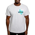 Ash Gray T-Shirt for a True Blue Texas LIBERAL