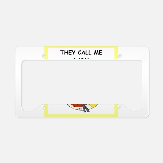 martial arts jokes License Plate Holder