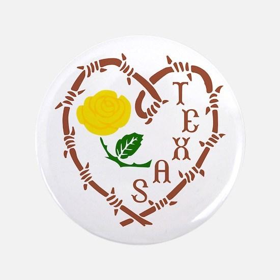 "YELLOW ROSE OF TEXAS 3.5"" Button"