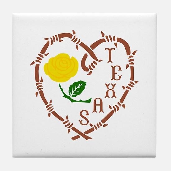 YELLOW ROSE OF TEXAS Tile Coaster