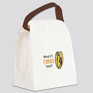 MIND IF I CRASH HERE Canvas Lunch Bag