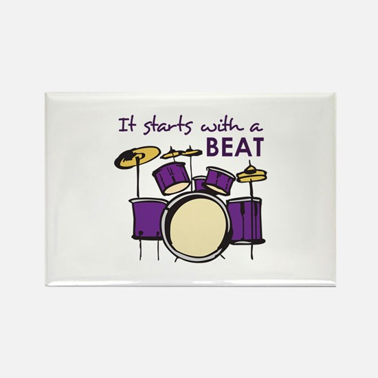 IT STARTS WITH A BEAT Magnets