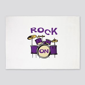 ROCK ON DRUMS 5'x7'Area Rug