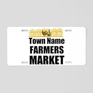 Farmers Market Aluminum License Plate