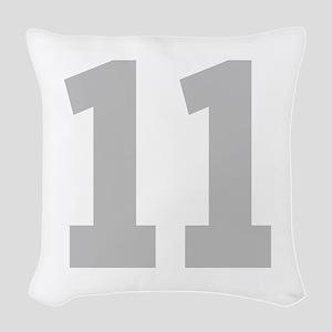 SILVER #11 Woven Throw Pillow