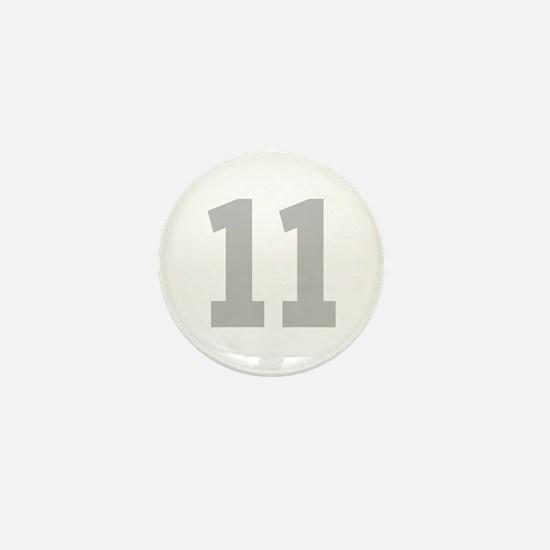SILVER #11 Mini Button