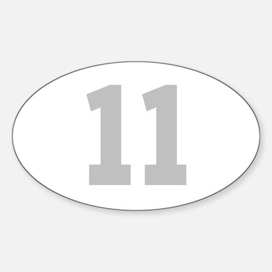 SILVER #11 Sticker (Oval)