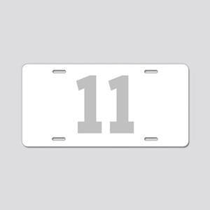 SILVER #11 Aluminum License Plate