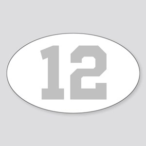 SILVER #12 Sticker (Oval)