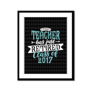 Retired Teacher Framed Panel Print