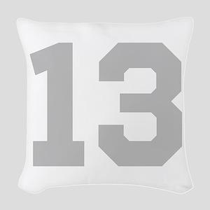 SILVER #13 Woven Throw Pillow