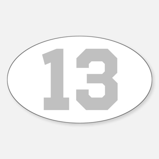 SILVER #13 Sticker (Oval)