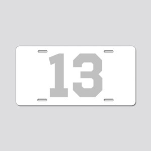 SILVER #13 Aluminum License Plate