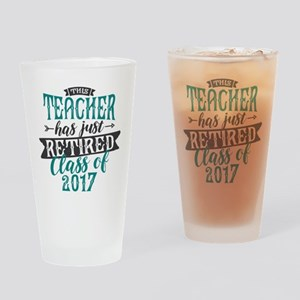 Retired Teacher Drinking Glass