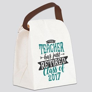 Retired Teacher Canvas Lunch Bag