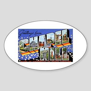 Chapel Hill North Carolina Oval Sticker