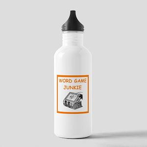word game joke Water Bottle