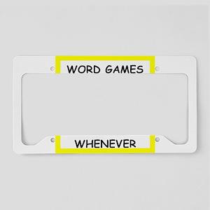 word game joke License Plate Holder