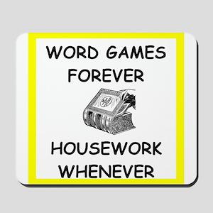 word game joke Mousepad