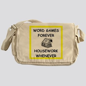 word game joke Messenger Bag