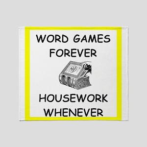 word game joke Throw Blanket