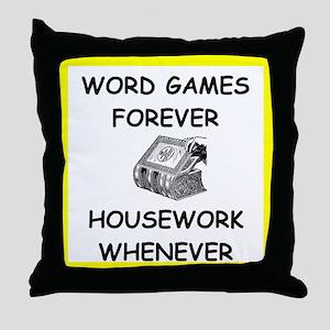 word game joke Throw Pillow