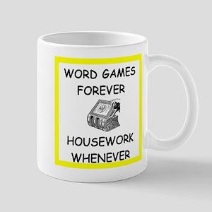 word game joke Mugs
