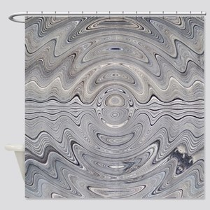 Weathered Wood Ripple Shower Curtain