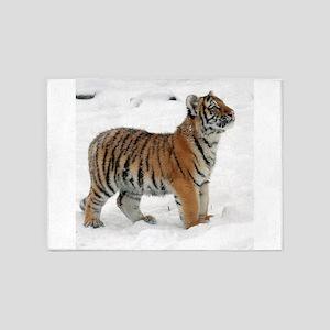 Tiger_2015_0117 5'x7'Area Rug