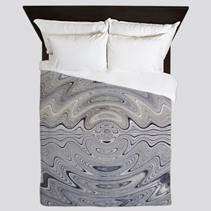 Weathered Wood Ripples Queen Duvet