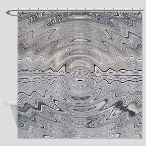 Weathered Wood Ripples Shower Curtain