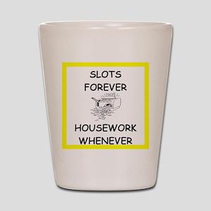 slots joke Shot Glass
