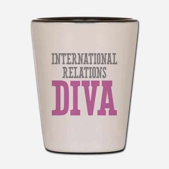 International Relations DIVA Shot Glass