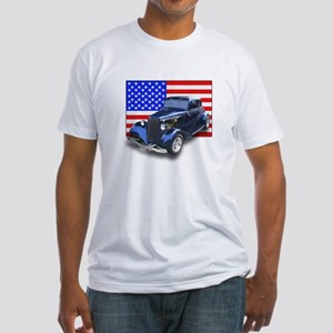 Hot Rod & US Flag Fitted T-Shirt