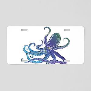Shiny Blue Purple Graphic Aluminum License Plate
