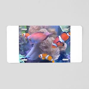 Clown Fish Aquarium Aluminum License Plate