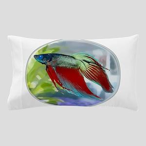 Colorful Betta Fish in a Bubble Pillow Case