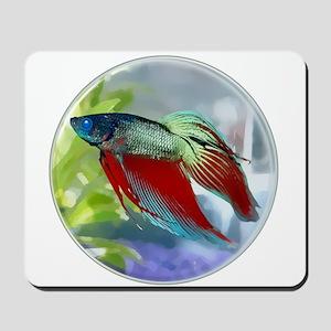 Colorful Betta Fish in a Bubble Mousepad